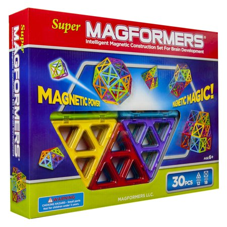 MAGFORMERS Super MAGFORMERS 30-Piece Magnetic Construction Set