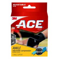 ACE Neoprene Ankle Support, America's Most Trusted Brand of Braces and Supports, Black, 1/Pack