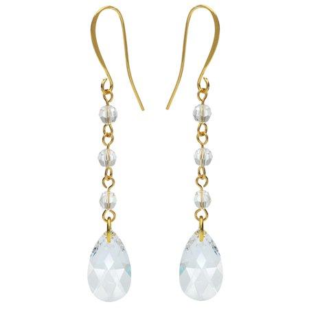 swarovski drop earrings crystal exclusive beadaholique