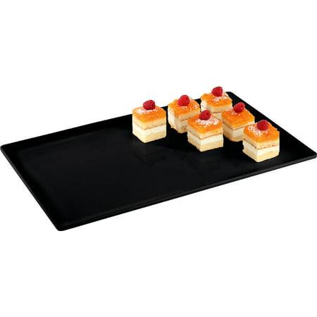 APS Melamine Rectangular Serving Platter, 1/2 GN, Black, 44843B12 Black Melamine Fish Platter