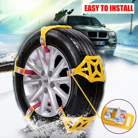 pcs car anti skid snow tyre tire chains beef tendon wheel chain belt  suv van walmartcom