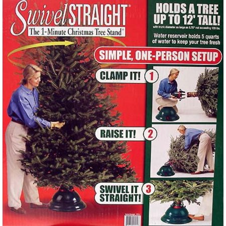 Swivel Straight 1-Minute Christmas Tree Stand - For Trees ...