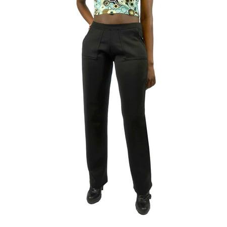 Vivian's Fashions Long Pants - Stretch Scuba Matt (Matt Scuba)
