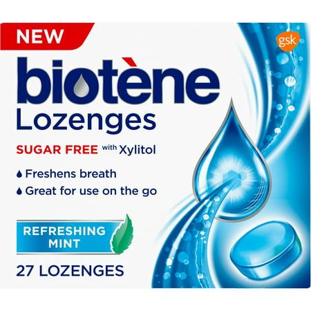Biotene Dry Mouth Lozenges for Fresh Breath, Refreshing Mint, 27 count Breath Fresh Spray