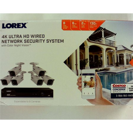 Lorex 4K Ultra HD Wired Network Security System Color Night Vision ()