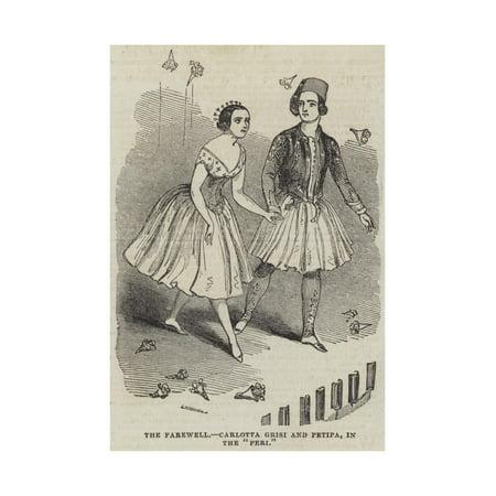 The Farewell, Carlotta Grisi and Petipa, in the Peri Print Wall