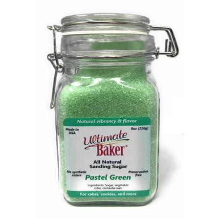 Ultimate Sugar (Ultimate Baker Natural Sanding Sugar (Fine Crystals) Pastel Green (1x8oz Glass) )