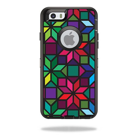 Skin For Otterbox Defender Iphone 6   Stained Glass Window   Mightyskins Protective  Durable  And Unique Vinyl Decal Wrap Cover   Easy To Apply  Remove  And Change Styles   Made In The Usa