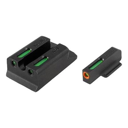Truglo TG13WA4PC Brite-Site TFX Pro Day/Night Sights Walther PPS M2 Tritium/Fiber Optic Green w/Orange Outline Front U-Notch Green Rear (Sig Sauer P226 Night Sights For Sale)