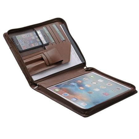 Organizer Padfolio Case (iPad Pro Leather Portfolio Case with Pen Case, Designer Zipper Organizer Padfolio for 12.9 inch iPad Pro)