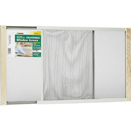Frost King AWS1545 Adjustable Window Screen, 15 in H x 26-1/2 - 45 in W, Steel, Zinc