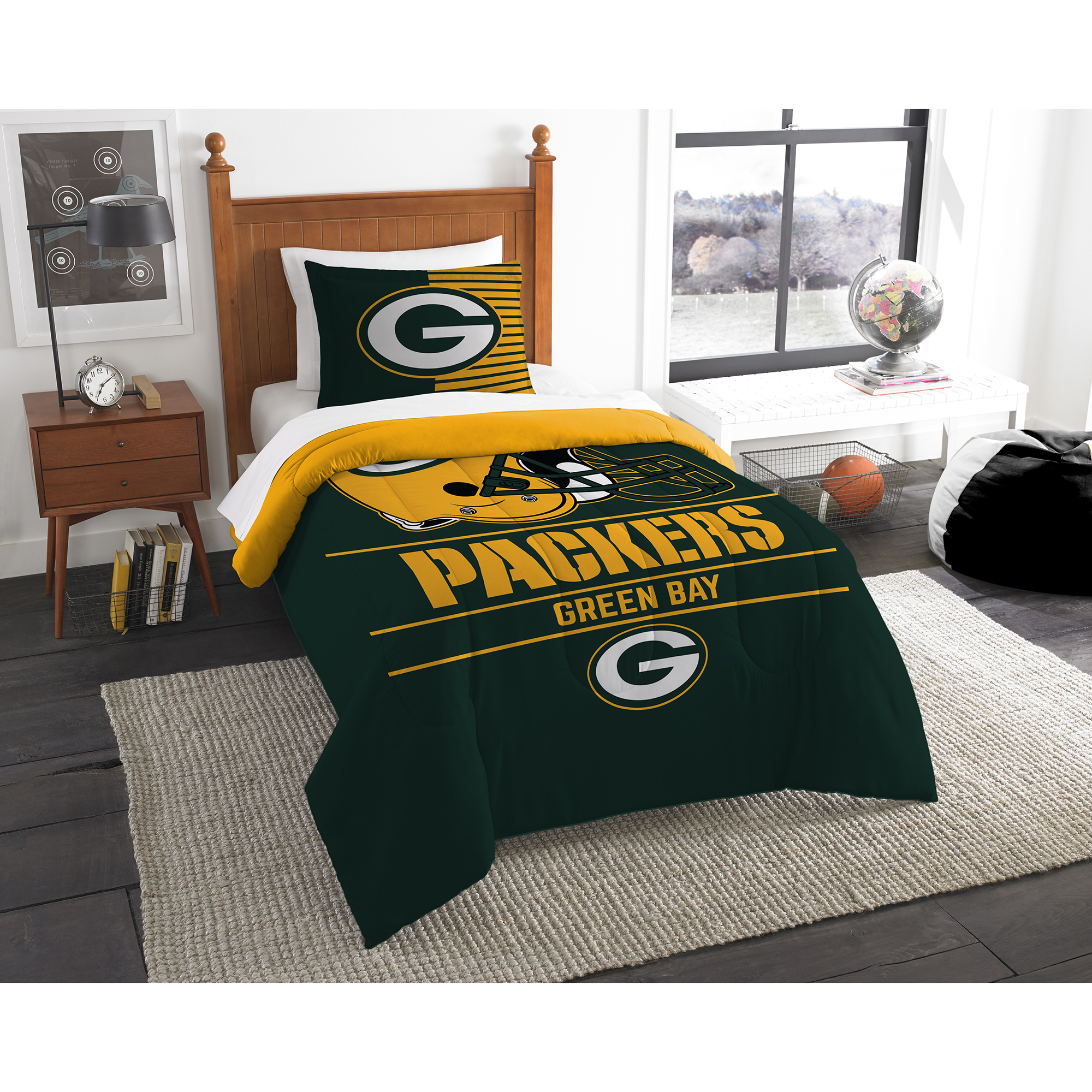 Green Bay Packers The Northwest Company NFL Draft Twin Comforter Set - No Size