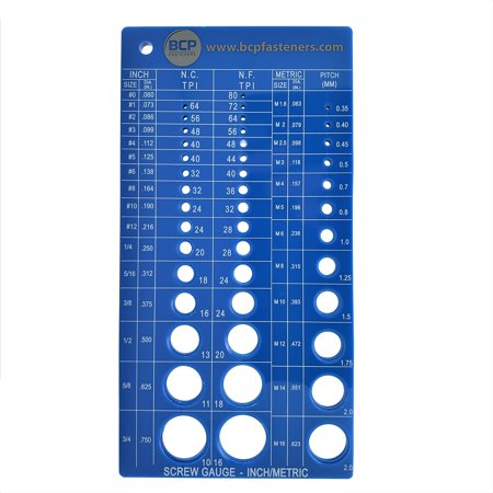 Screw Thread Gauge   Metric And SAE   Recommends Drill Bit & Tap Size (BCP675) Metric Drill Bit Set