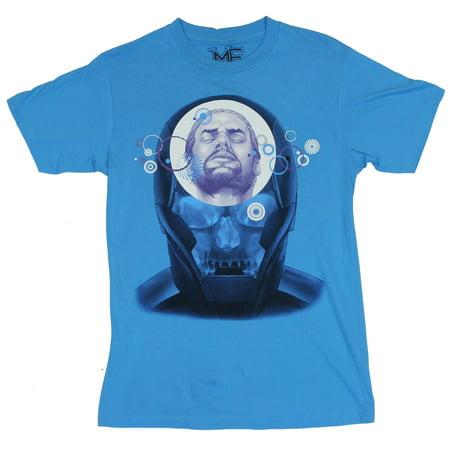 Iron Man (II) (Marvel Comics) Mens T Shirt  - X-Ray Image on Blue [Apparel]](Foam Iron Man Suit For Sale)