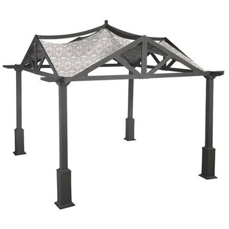 Garden Winds Replacement Canopy Top Cover for the Garden Treasures 10 x 10 Pergola -Standard 350 - Damask Beige