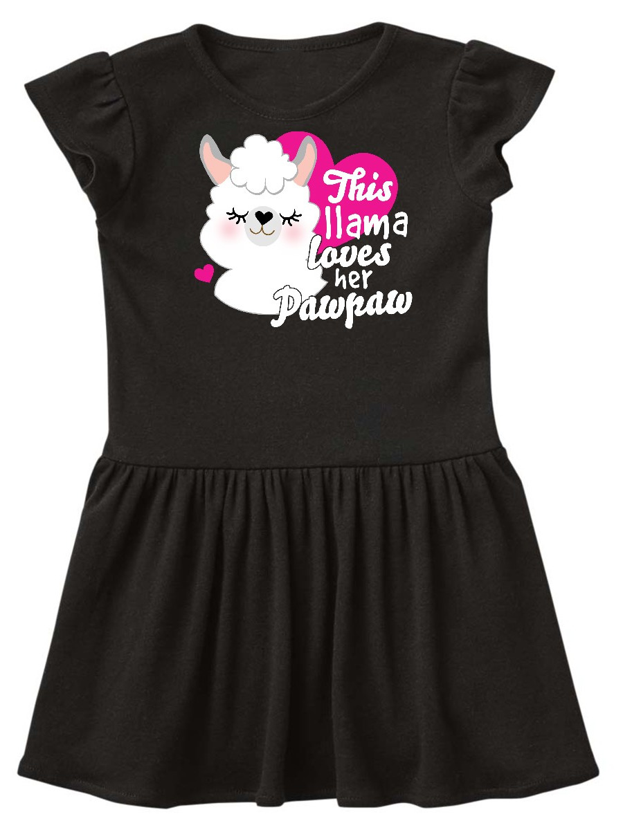 inktastic Valentines Day This Llama Loves Her Pawpaw Toddler T-Shirt