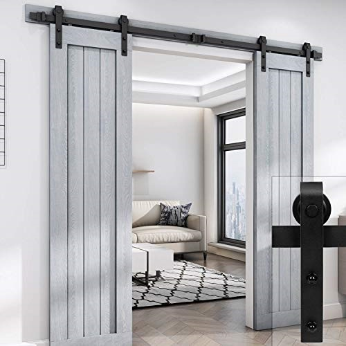 Easelife 8 Foot Double Sliding Barn Door Hardware Track