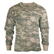Rothco Men's Long Sleeve Digital Camo T-Shirt, Acu Digital Camo, XLarge