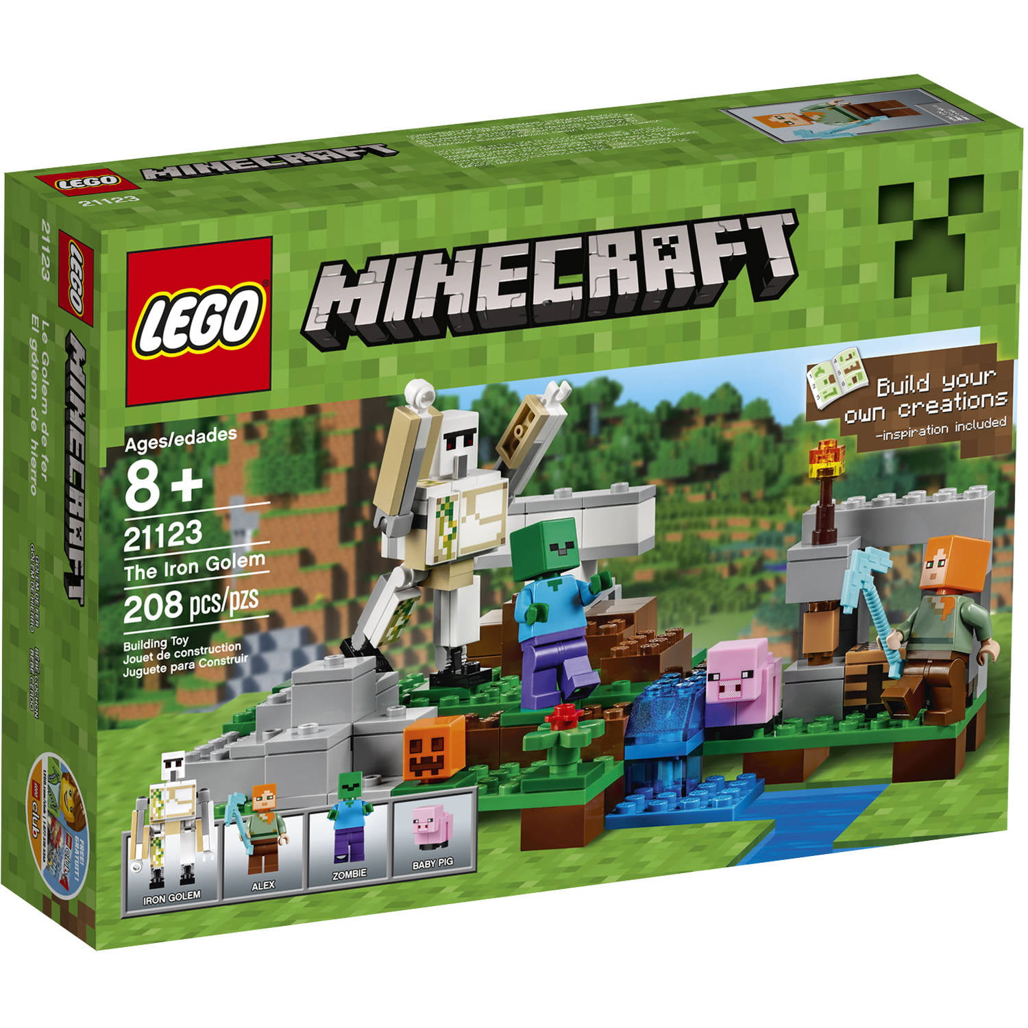 Lego Minecraft The Iron Golem, 21123 by LEGO Systems, Inc.