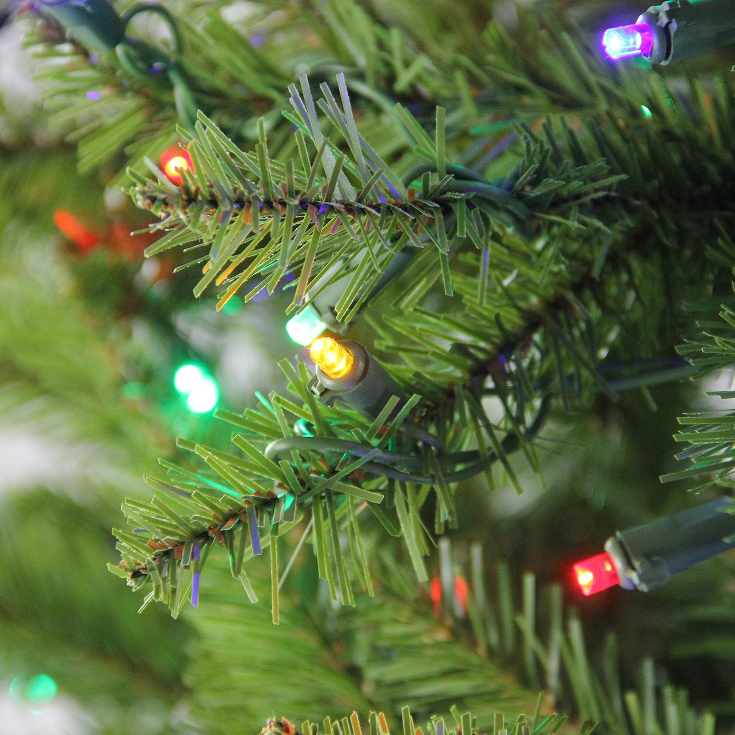 6.5\' Pre-Lit Northern Pine Full Artificial Christmas Tree - Multi ...