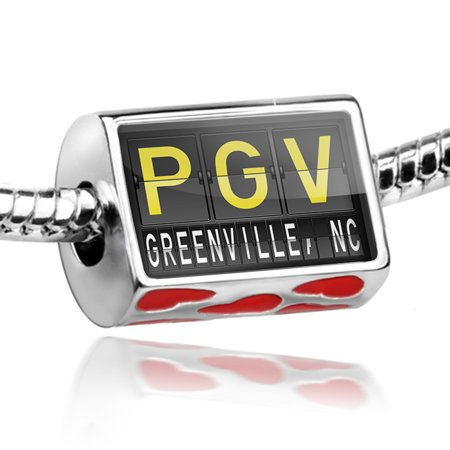 Halloween Store Greenville Nc (Bead PGV Airport Code for Greenville, NC Charm Fits All European)