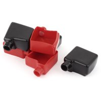 Unique Bargains 6Pcs Auto Car Battery Terminal Cover Insulation Boot Black Red 50mmx50mm