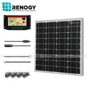 Renogy 50W Watts Solar Panel Starter Kit Monocrystalline Off Grid 12V RV Boat