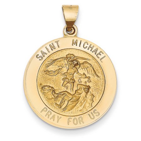 14k Yellow Gold Saint Michael Medal (Gold Saint James Medal)