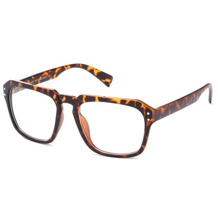 IG Unisex Vintage Clark Kent Oversized Geek Squared Frame Clear Lens Fashion Glasses in (Geek Chic Glasses Frames)