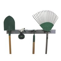 Wall Control Metal Pegboard Strip Garden Tool Organizer Kit