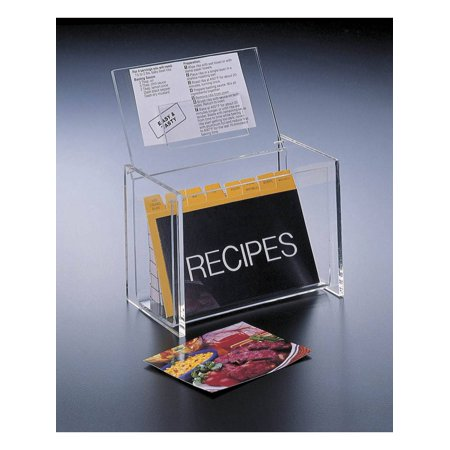 Recipe Holders (Acrylic Lucite Recipe Box Holder with Lid display Box and Recipe Cards 5 x)
