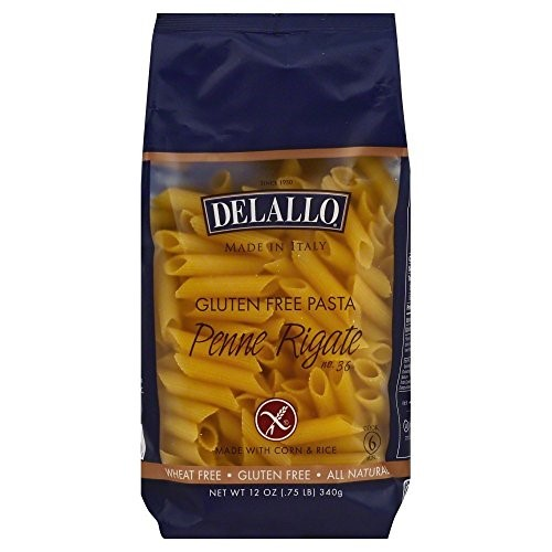 Delallo Gluten Free Corn And Rice, Penne Regate, 12 Ounce