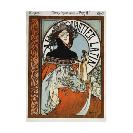Au Quartier Latin, 1898 Print Wall Art By Alphonse Mucha