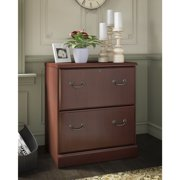 kathy ireland® Office by Bush Business Furniture Bennington 2 Drawer Lateral File - Harvest Cherry