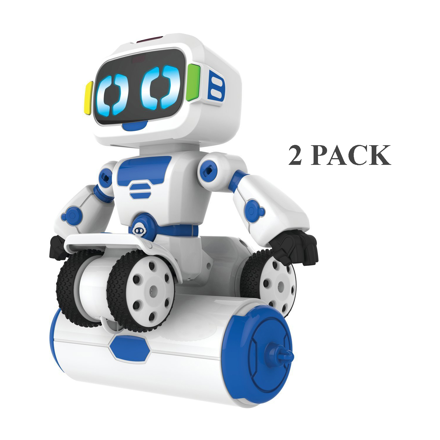 2-Pack WowWee Tipster Toy Balancing Robot Friend w  Remote Control White Blue by WowWee