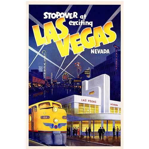 "Trademark Fine Art ""Las Vegas"" Canvas Art, 24x32"