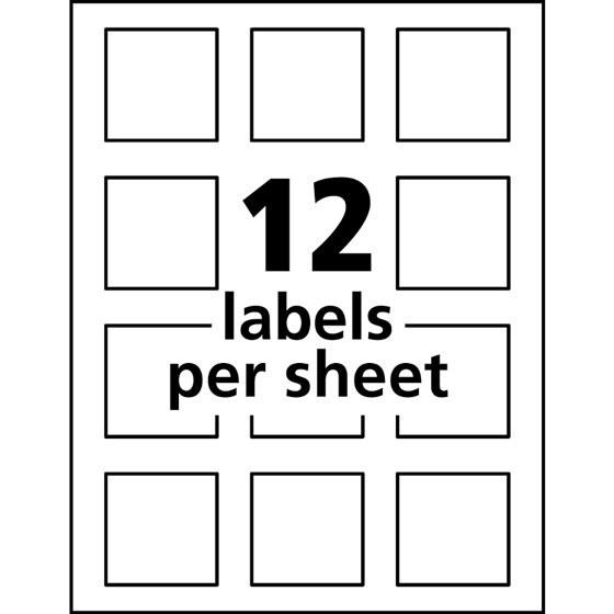Avery Print To The Edge Square Labels With Trueblock 2 X 2 White