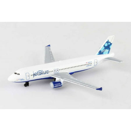 Jetblue Single Plane, White - Daron RT1224 - Diecast Model Airplane Replica
