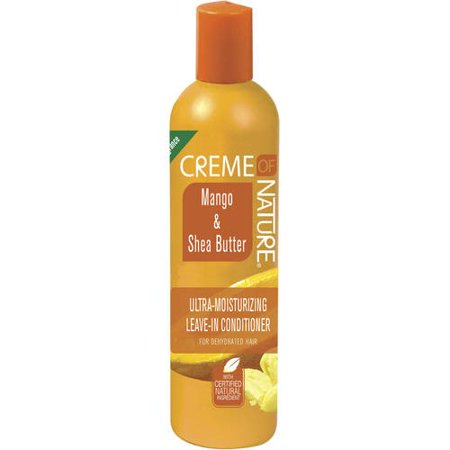 (2 Pack) Creme Of Nature Leave-In-Conditioner Mango & Shea Butter, 8.45 FL OZ