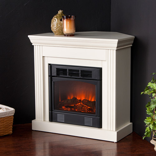 **DNP until bundle can be builtHartley Petite Corner Electric Fireplace, Ivory