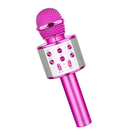 Reactionnx Wireless Portable Handheld Bluetooth Karaoke Microphone,mini Karaoke Microphone, Best Gift for Girls, Support Bluetooth Connection and Cable USB