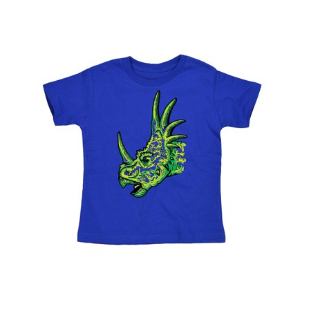 Sketched Styracosaurus Head Dino Dinosaur Horn Fashion Novelty Toddler (Dinosaur With Horn On Back Of Head)
