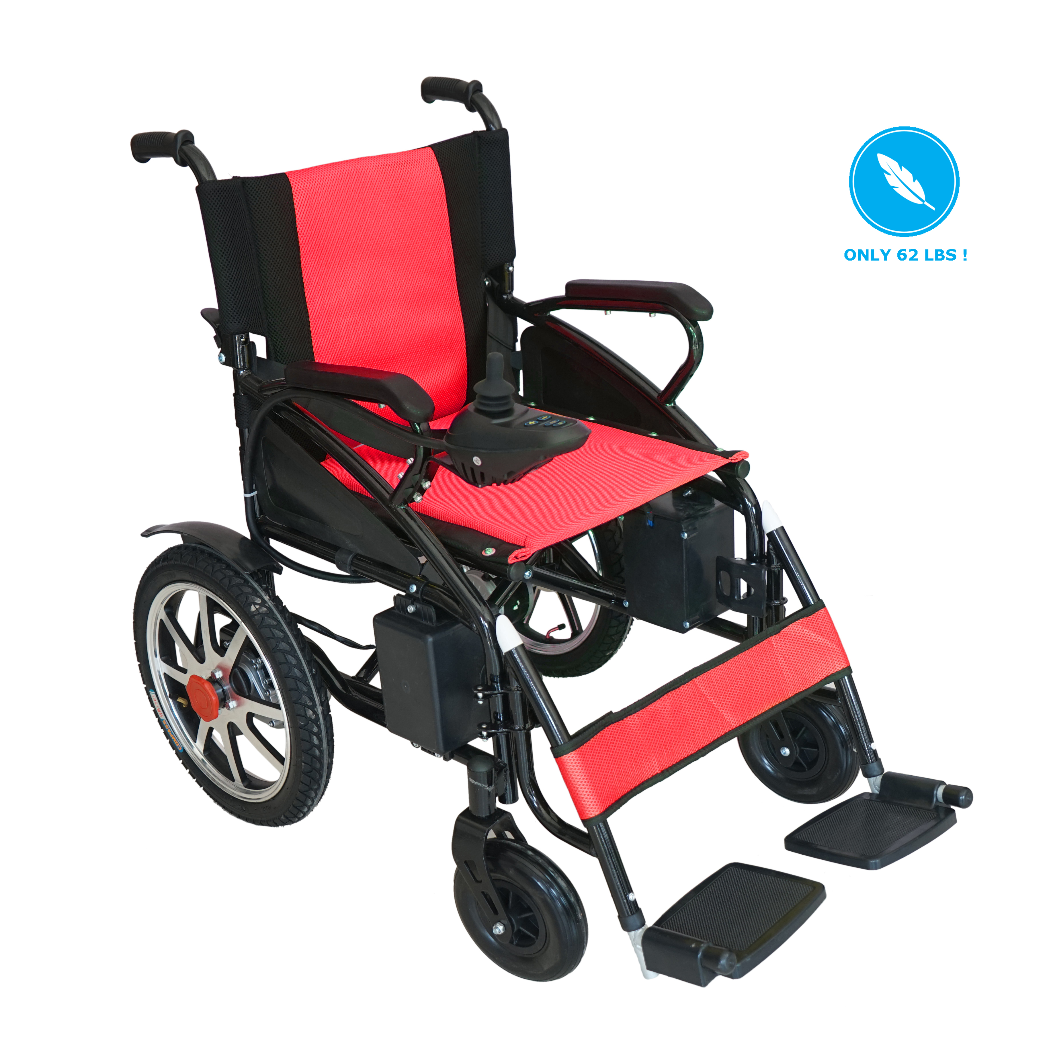 Electric Wheelchair Foldable Lightweight Heavy Duty Lithium Battery Electric Power Wheel chair Multi Terrain Easy Travel