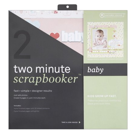 Two Page Kit (Two Minute Scrapbooker 12 Inch x12 Inch Page Kit - Baby, Includes 6 printed 12 Inch x12 Inch base pages By Autumn)