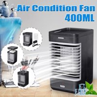 Portable Air Conditioner Fan, Personal Air Cooler Mini 4 in 1 Space Evaporative Air Cooler Quiet Humidifier Misting Cooling Fan, Desktop Cooling Fan 2 Speeds for Office Home Room Camping