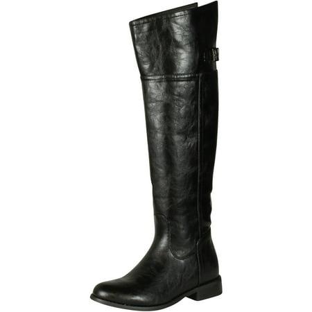 Breckelles Women RIDER-82 Boots, Black, 5.5 Breckelles Rider 82 Fashion
