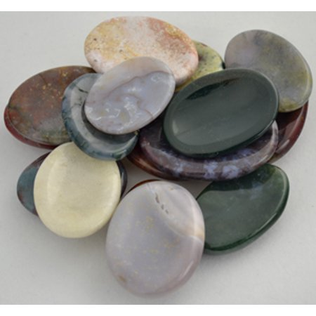 Party Games Accessories Halloween Séance Gemstone Pocket Worry Stone Jasper Various Colors Patterns ()