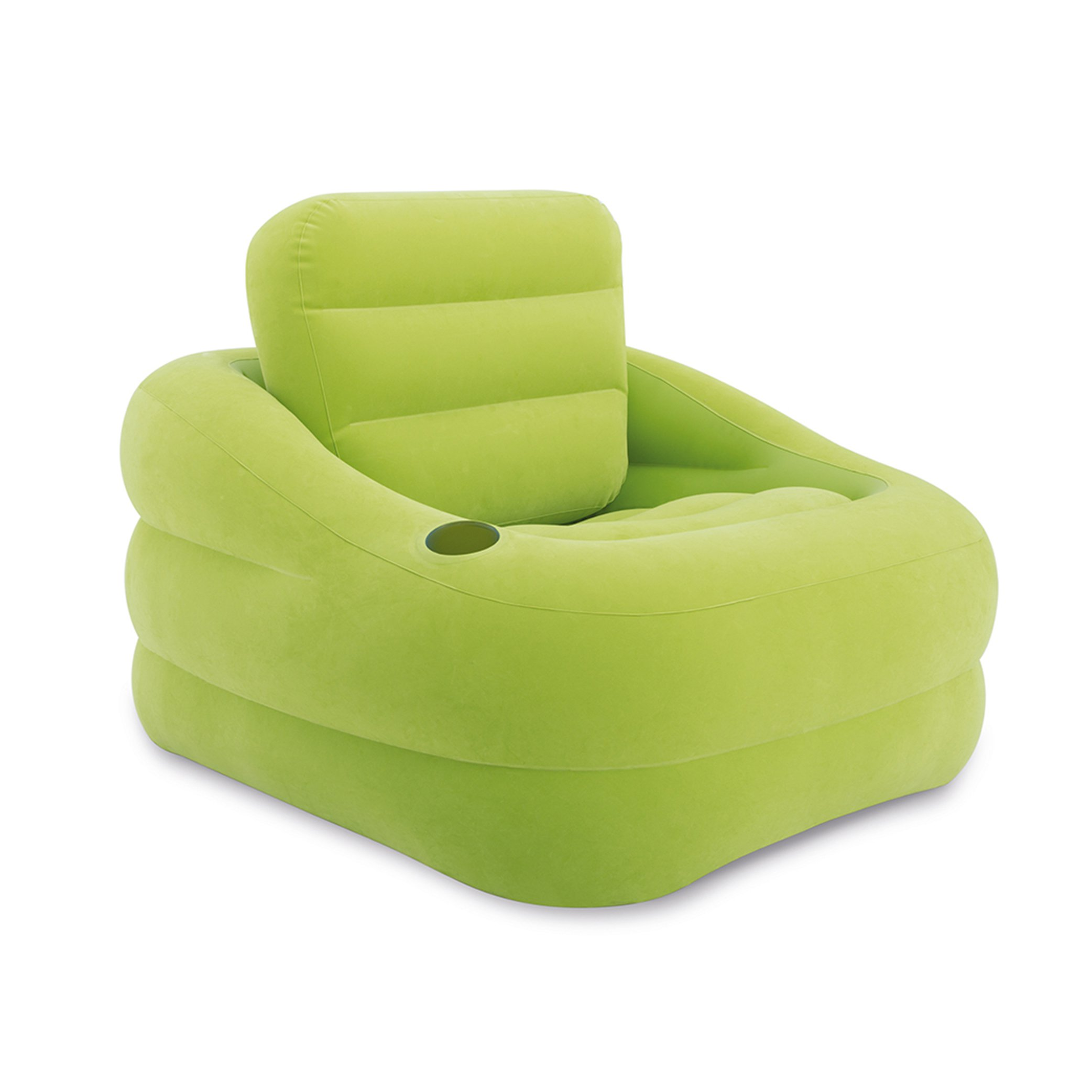 Intex Inflatable Indoor or Outdoor Accent Chair with Cup Holder, Green | 68586EP by Intex