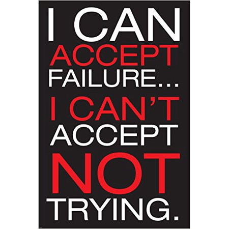 a59c7477c246ef I Can T Accept Motivational Inspirational Poster About Success And Failure  Michael Jordan Basketball Hero 24X36 - Walmart.com