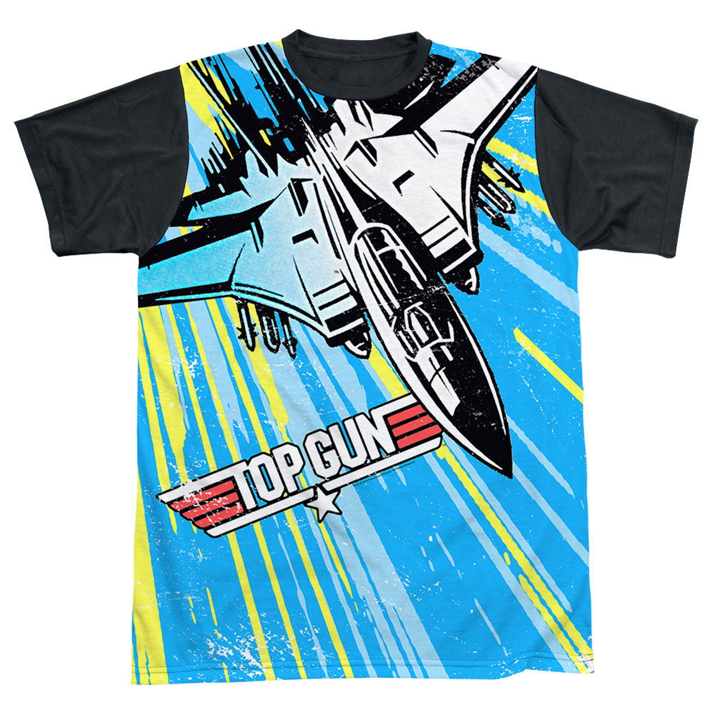 Top Gun Men's  Rad Jet Sublimation T-shirt White